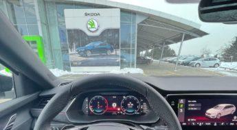Škoda Octavia 4 RS servis reklamace interior